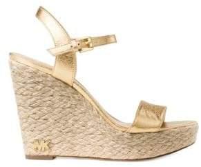 MICHAEL Michael Kors Women's Jill Espadrille Wedges - Pale Gold - Size 11