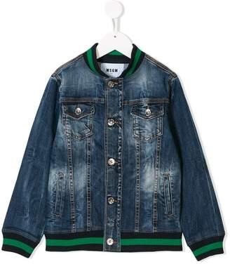 MSGM (エムエスジーエム) - Msgm Kids logo patch denim jacket