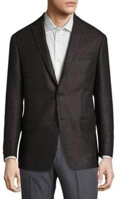 Michael Kors Mini Grid Wool Sportcoat
