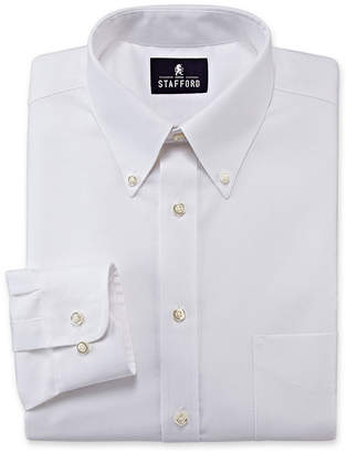 STAFFORD Stafford Travel Wrinkle-Free Oxford Dress Shirt-Big & Tall