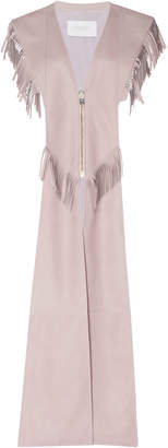 Giambattista Valli Long Fringe V-Neck Vest