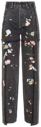Vetements Sticker Straight Leg Jeans