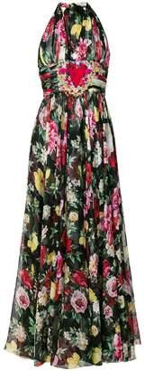 Dolce & Gabbana pleated halterneck dress