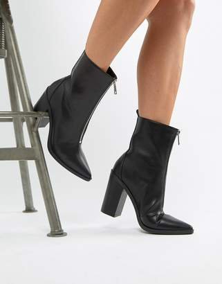 Simmi Shoes Simmi London black zip front ankle boots