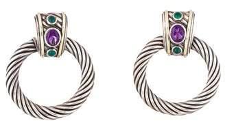 David Yurman Amethyst & Dyed Chalcedony Door Knocker Earrings