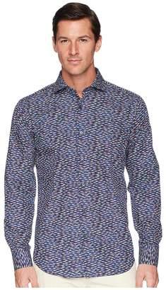 Bugatchi Shaped Fit Long Sleeve Woven Shirt Men's Clothing