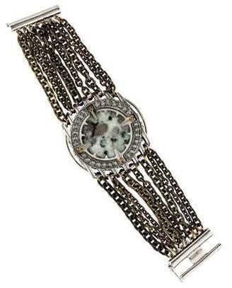 Lanvin Agate & Crystal Multistrand Bracelet