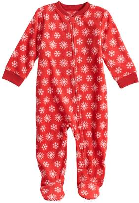 11b8a8729d Baby Infant Jammies For Your Families Snowflakes Microfleece Blanket Sleeper  One-Piece Pajamas