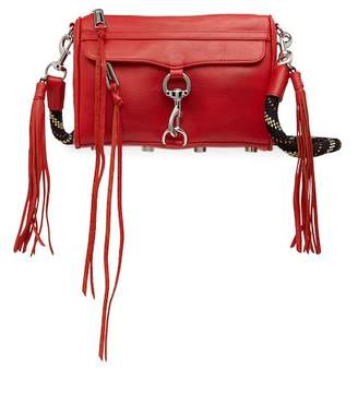 Rebecca Minkoff Mini Mac Leather Crossbody Bag with Climbing Rope