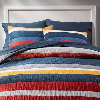 Pottery Barn Teen MVP Stripe Quilt , Full/Queen, Multi