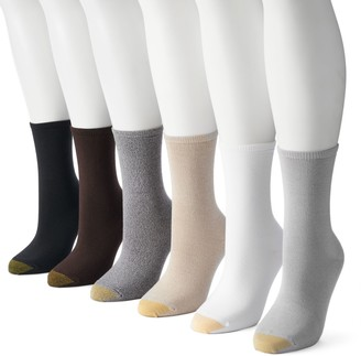 Gold Toe Goldtoe Women's GOLDTOE 6-pk. Solid Soft Crew Socks