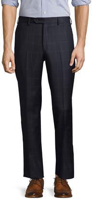 Lubiam Plaid Wool Trouser