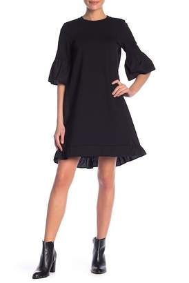 Sugar Lips Sugarlips Flare Sleeve Shift Dress