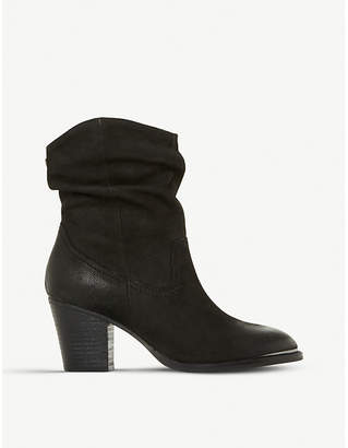 Steve Madden Olya ruched leather ankle boots