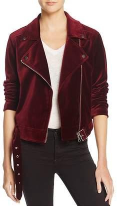 Paige Shanna Jacket Velvet Moto Jacket - 100% Exclusive