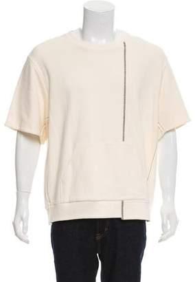 3.1 Phillip Lim Short Sleeve Raw-Edge Sweatshirt w/ Tags