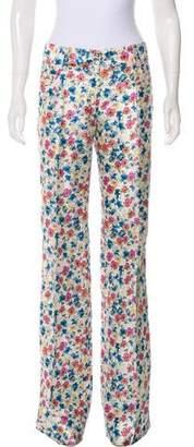 Dolce & Gabbana Floral Printed Wide-Leg Pants w/ Tags