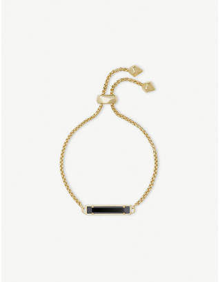 Kendra Scott Stan 14ct yellow gold-plated and tinted glass bracelet