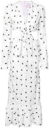 Carolina Herrera tie front cut-out side dress