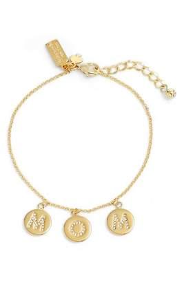 Kate Spade Mom Knows Best Pave Charm Bracelet