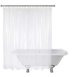 At Clear Short Cut Original Shower Curtain Liner Shorter Length Stays Clean Longer 66