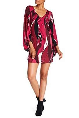 Trina Turk Trina Women's Peachy V Neck Printed Jersey Dress