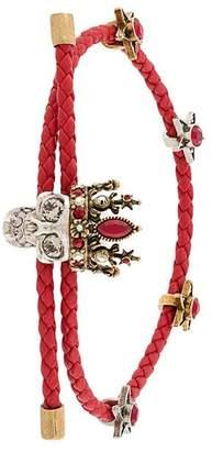 Alexander McQueen skull braided bracelet
