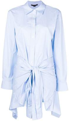 Alexander Wang tie front shirt dress