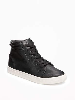 Old Navy Faux-Leather Lace-Up High-Tops for Boys
