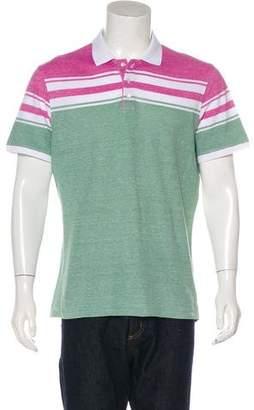 Isaia Linen-Blend Piqué Polo Shirt