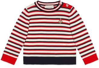 Gucci Baby striped cotton sweater with anchor