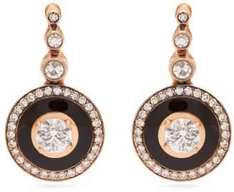 Selim Mouzannar - 18kt Gold And Diamond Earrings - Womens - Black
