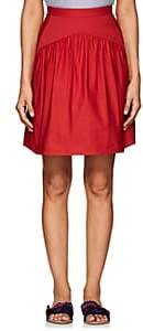 Atlantique Ascoli Women's Jupe Cotton-Linen Skirt-Red