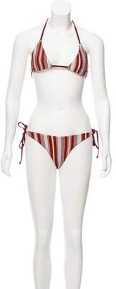 Lovers + Friends Striped Two-Piece Swimsuit w/ Tags