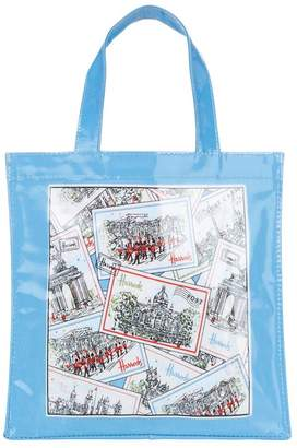 Harrods London Postcards Small Shopper Bag