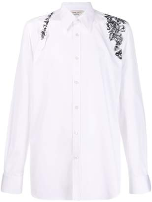 068bc3af0a2f Alexander McQueen embroidered floral harness shirt