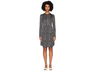 Sonia Rykiel Satin Jacquard Short Sleeve Dress