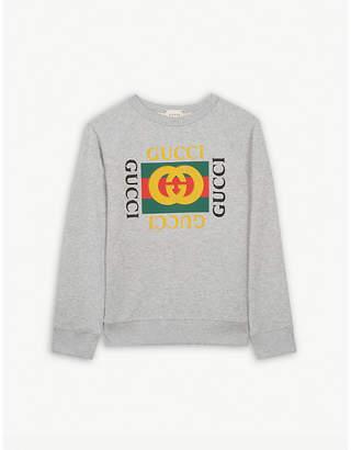 Gucci 'GG' logo cotton sweatshirt 4-12 years