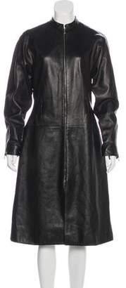 Isabel Marant Long Sleeve Leather Dress