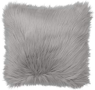 Pottery Barn Teen Fur-rific Faux-Fur Pillow Cover &amp Insert, Gray