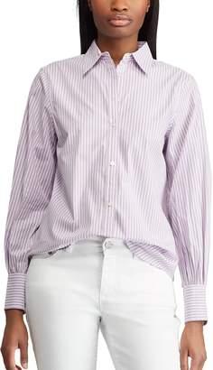 Chaps Women's Plaid No-Iron Broadcloth Shirt
