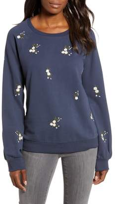 Caslon Embroidered Sweatshirt