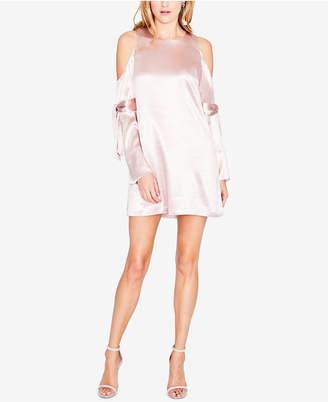 Rachel Roy Cold-Shoulder Tie-Sleeve Dress