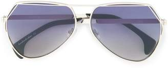 Wildfox Couture aviator tinted sunglasses