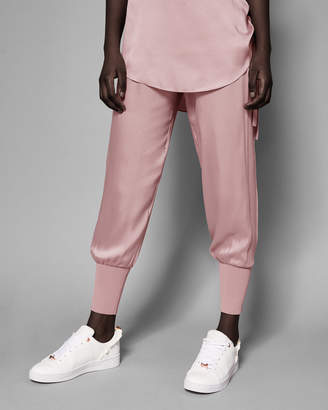 Ted Baker AIBREY Satin jogger with knit trim