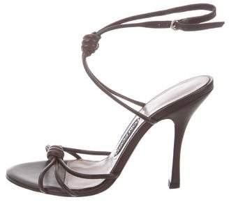 Tom Ford Leather Knot-Accented Sandals w/ Tags