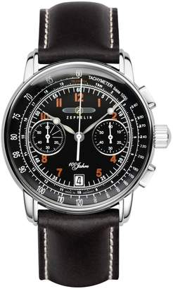 Zeppelin 100 Years Chronograph Men's Date Watch Leather 7674-2