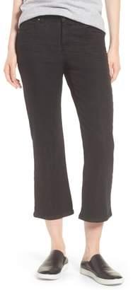 Eileen Fisher Organic Cotton Blend Crop Flare Jeans