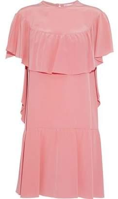 RED Valentino Ruffled Silk Crepe De Chine Mini Dress