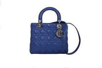 a049ed56d54a Christian Dior Lady Blue Leather Handbag
